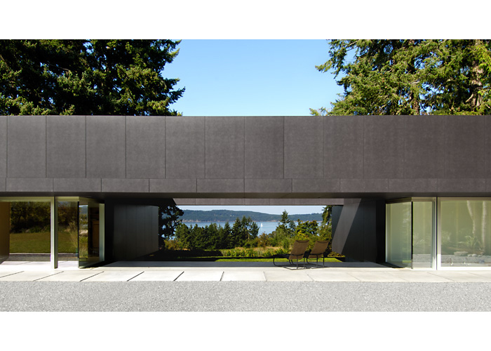 Linear house on saltspring island b c for Linear organization in architecture