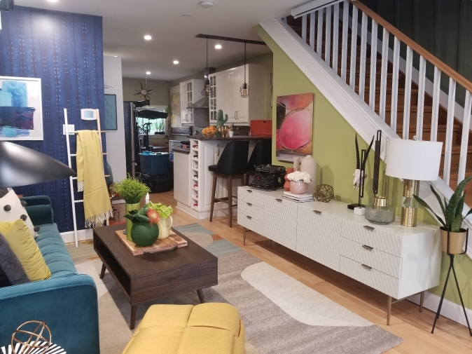 This story-and- a-half home in Hamilton, Ontario, was brought to life as designer Nikki Chu created a space where every day is an exercise in cheerful colour therapy.