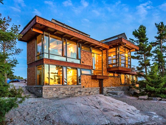 Home Design Ideas Architecture: Monument Channel Cottage In Georgian Bay, Ontario By Core