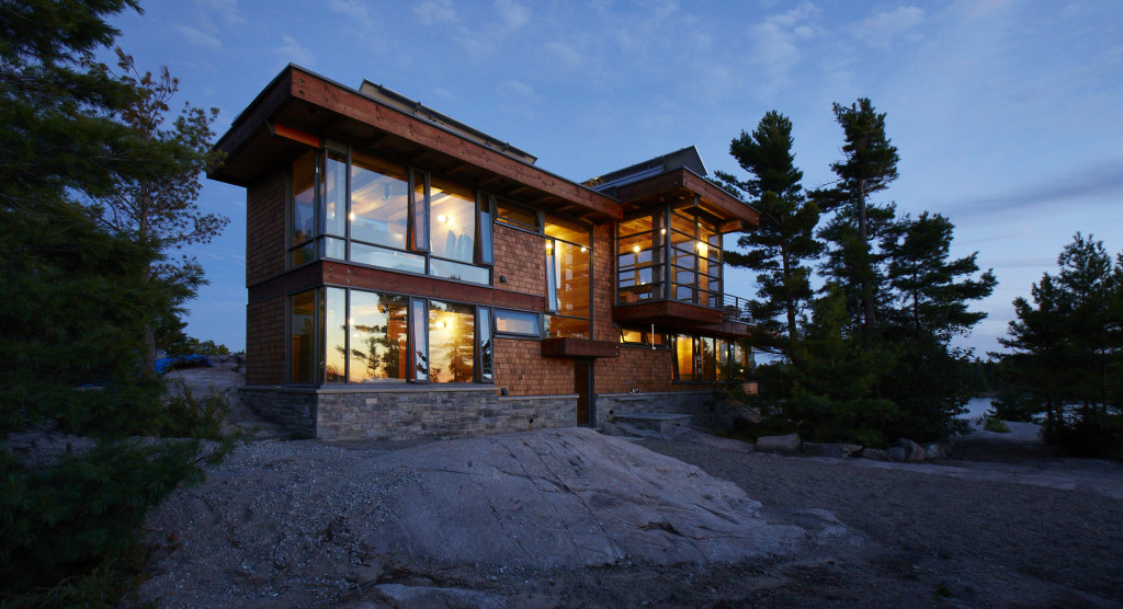 A Modern Outlook To A Rustic Setting In Georgian Bay