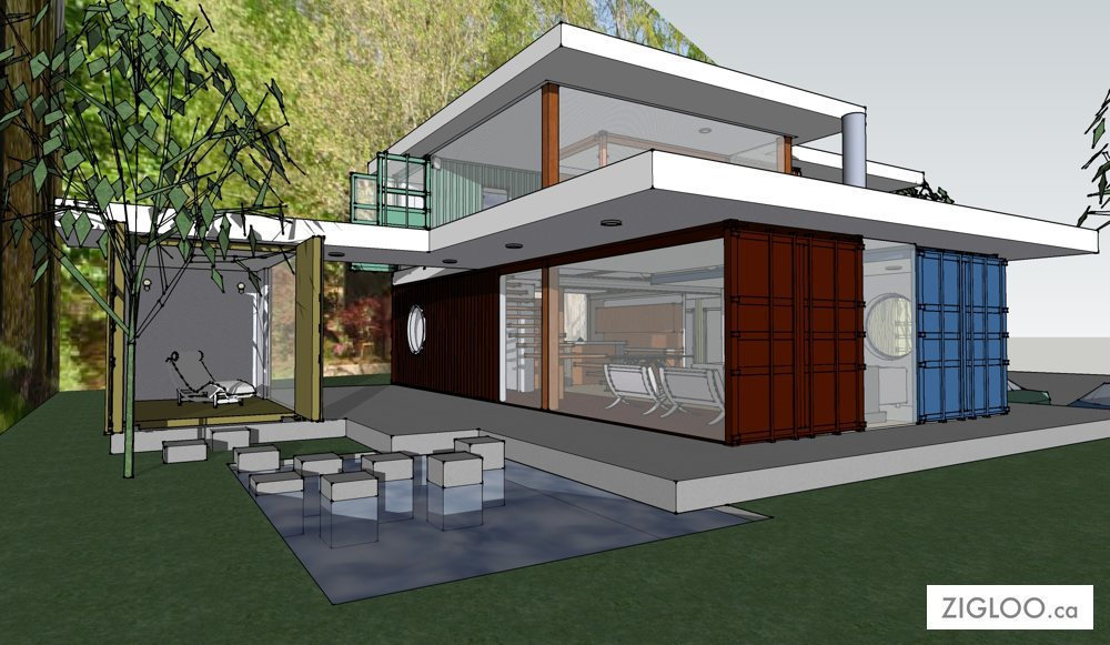 Eco conscious shipping container homes designed by zigloo for Office design victoria bc