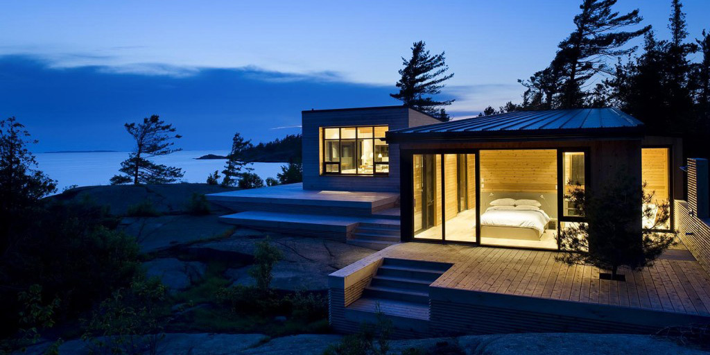 Superkul 39 s shift cottage on ontario 39 s georgian bay for Contemporary cottage design