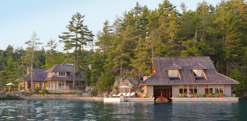Classic New Boathouses In Muskoka Ontario By Tamarack